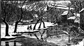 Winter or Back of the Mill (giclée only)